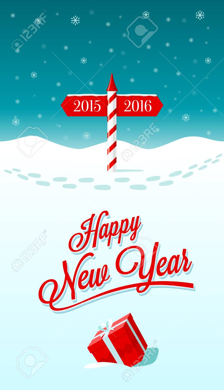 New year greeting card with border between years 2015 and 2016 new year greeting card with border between years 2015 and 2016 stock vector 48138203 m4hsunfo