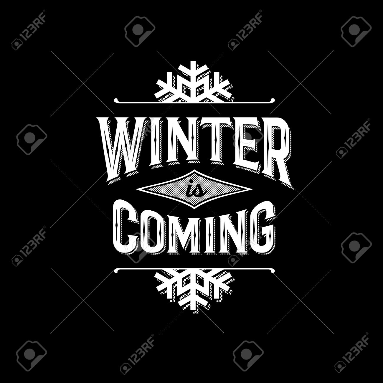 Design t shirt label - Monochrome Hipster Vintage Label Winter Is Coming Print For T Shirt