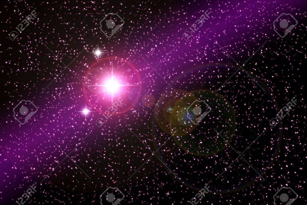 bright star in universe - illustration Stock Illustration - 8248193