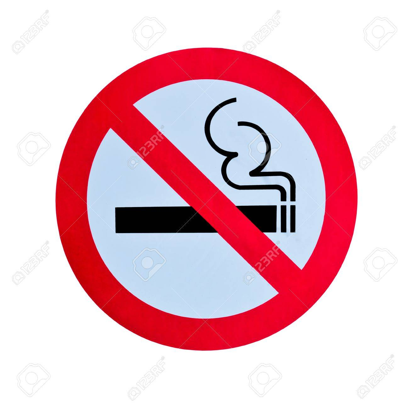 no smoking warning sign isolated Stock Photo - 8385854