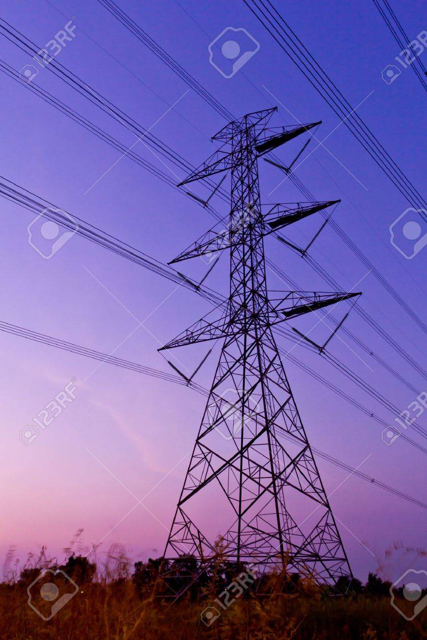 electric high voltage power post Stock Photo - 9055649