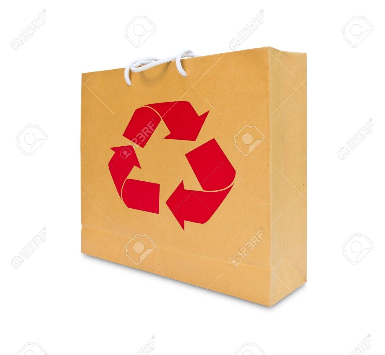 recycle sign on brown paper bag Stock Photo - 9456566