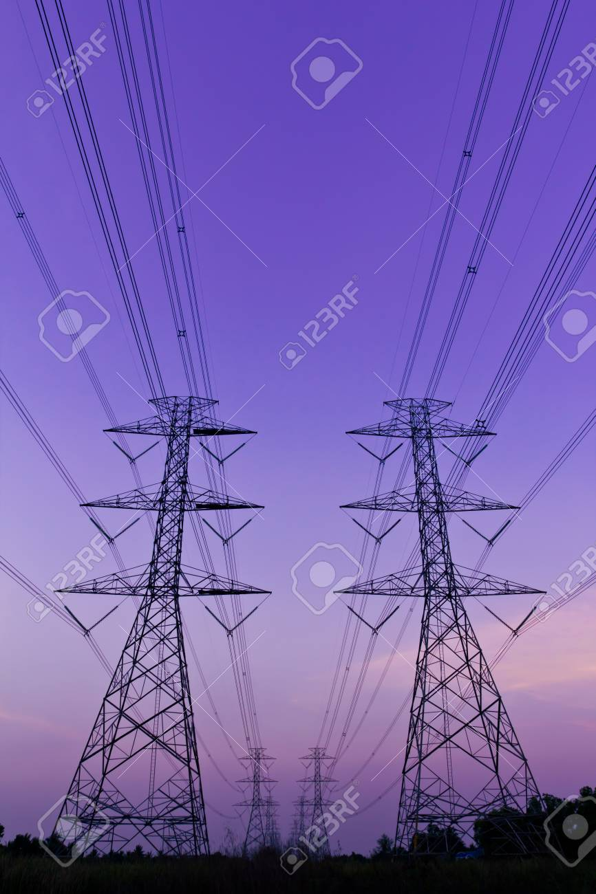 electrical high voltage power pylon Stock Photo - 9456641