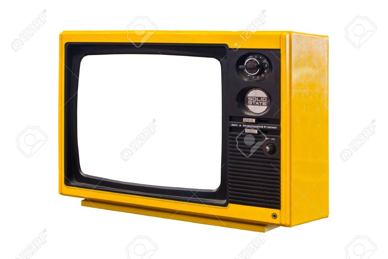 old television isolated Stock Photo - 10750680