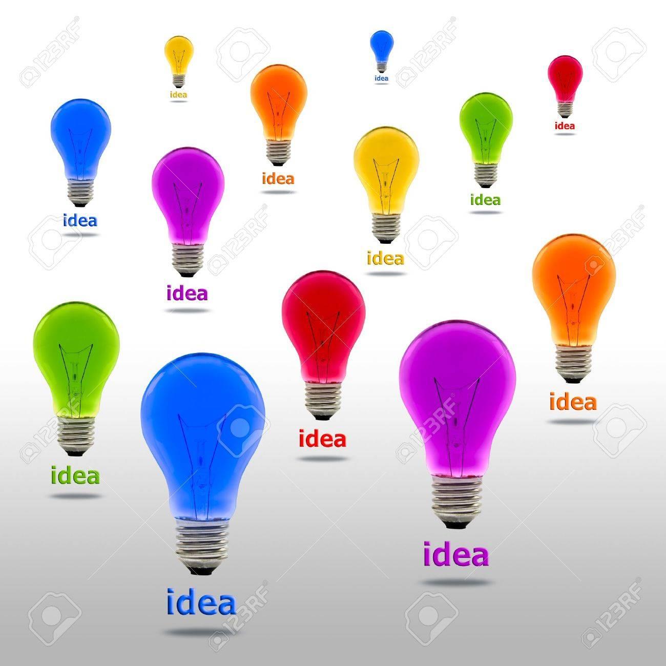 colorful idea light bulb Stock Photo - 11561953