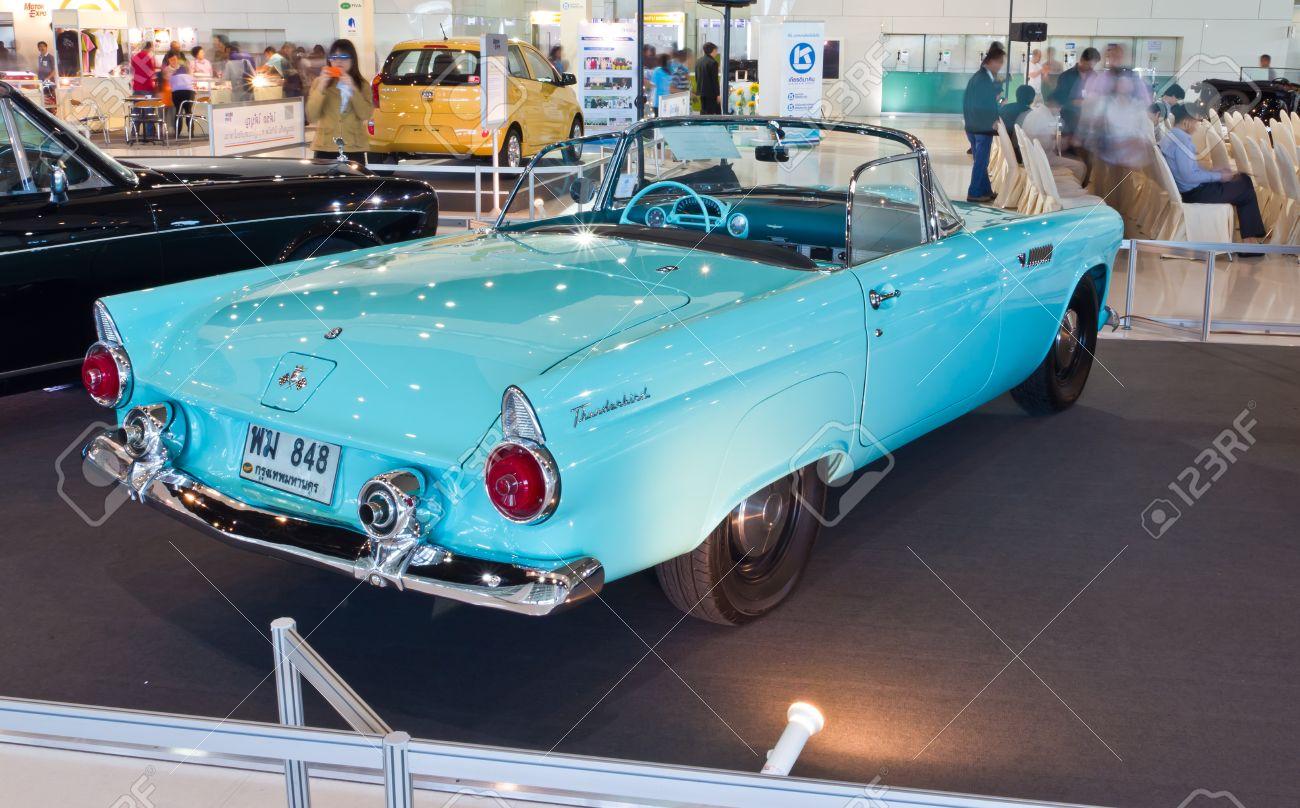 Bangkok-Dec 01: Classic Car Ford Thunderbird Made In USA, Year ...