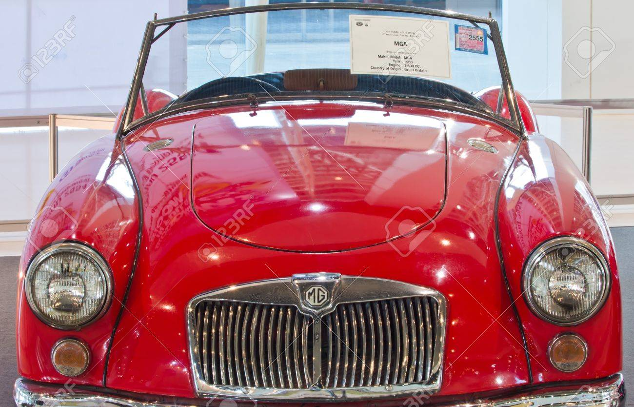 Bangkok-Dec 01: Classic Car MGA Made In Great Britain, Year.. Stock ...