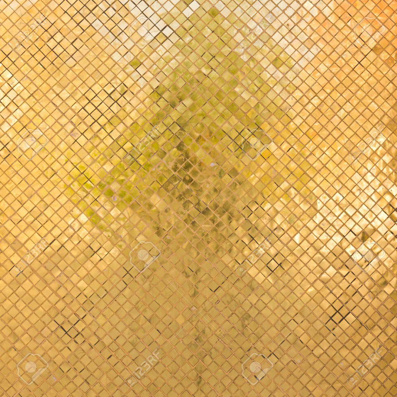 grunge golden mosaic for background Stock Photo - 12379606