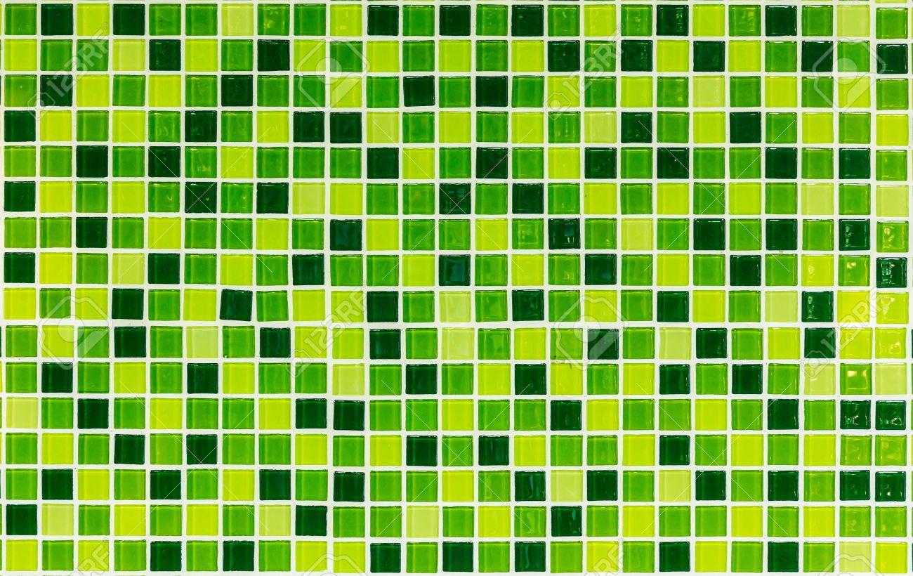 Green tiles kitchen texture - Green Tiles Texture For Background Stock Photo 18440139