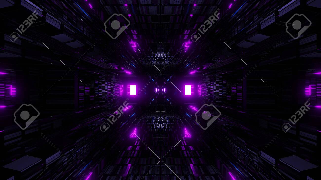 128392760 textured scifi glitter tunnel corridor wallpaper background 3d illustration