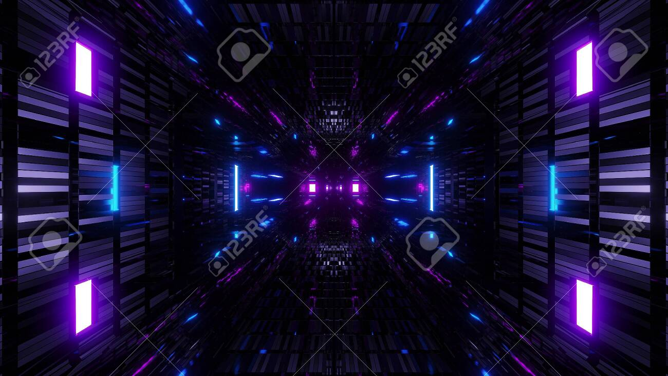 128392765 textured scifi glitter tunnel corridor wallpaper background 3d illustration