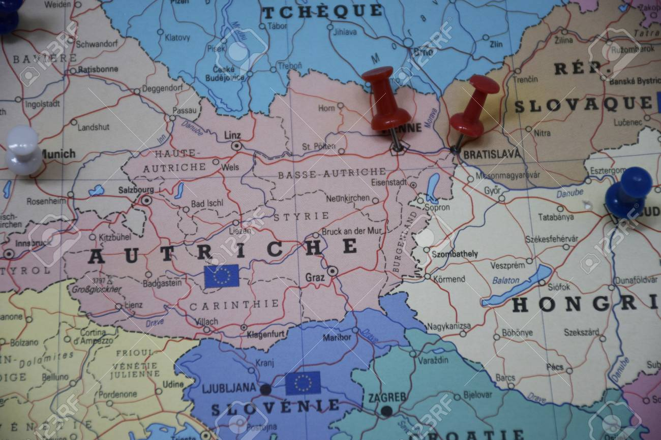 Central Europe Map Stock Photo, Picture And Royalty Free Image ...