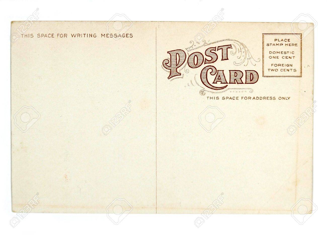 Vintage postcard. Collectible - mail related object. Antique. Stock Photo - 689419