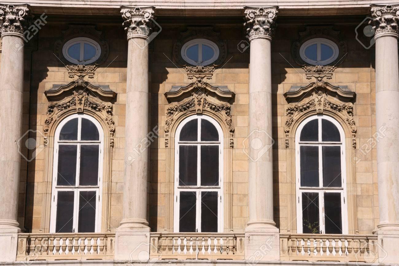 decorative windows of a museum in budapest stock photo 1692729 - Decorative Windows