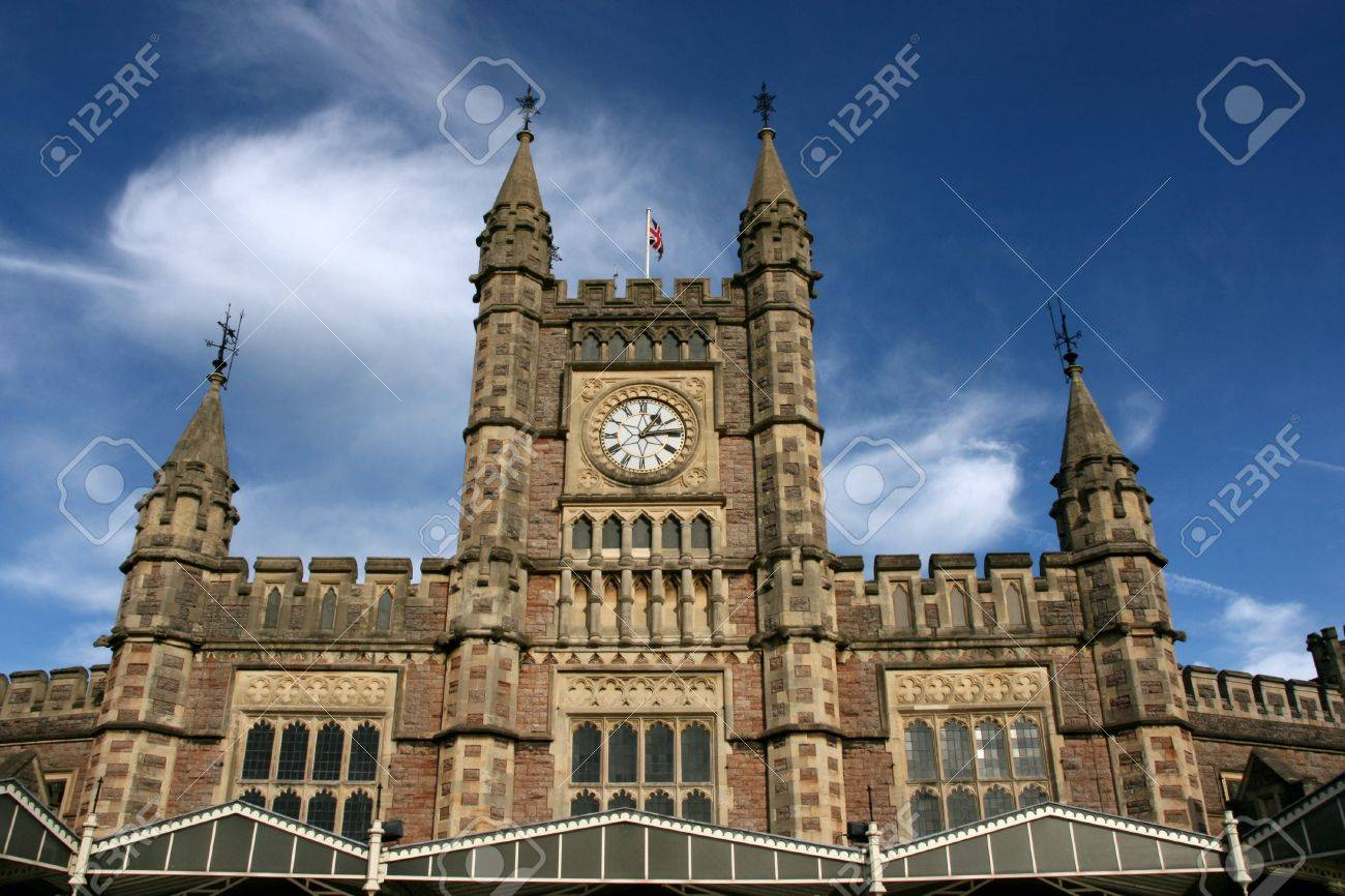 Temple Meads - famous railway station in Bristol, South West England, UK. Designed by Isambard Kingdom Brunel. Stock Photo - 3951963
