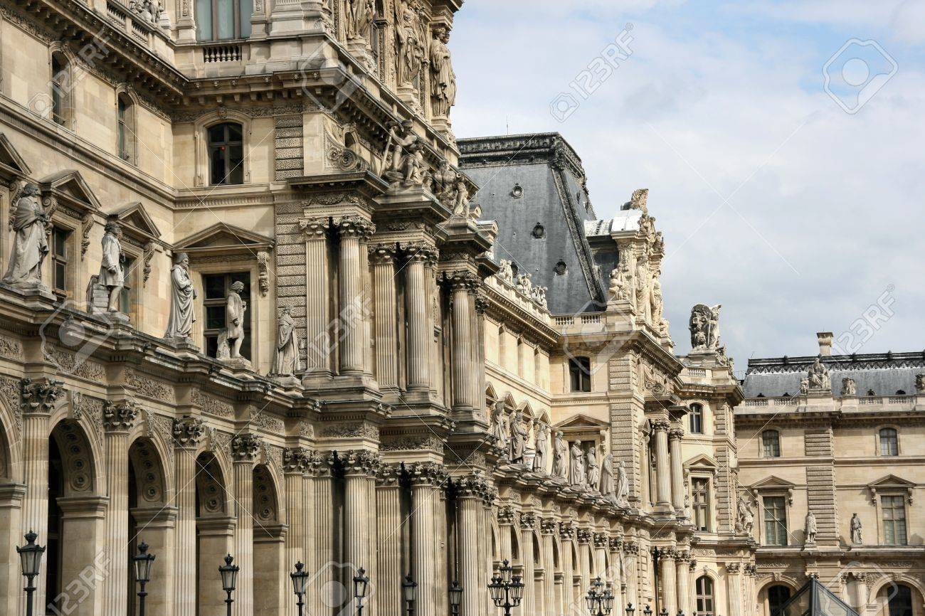 Louvre - former royal palace, now the most famous museum in the world. Paris, France. Stock Photo - 4063746