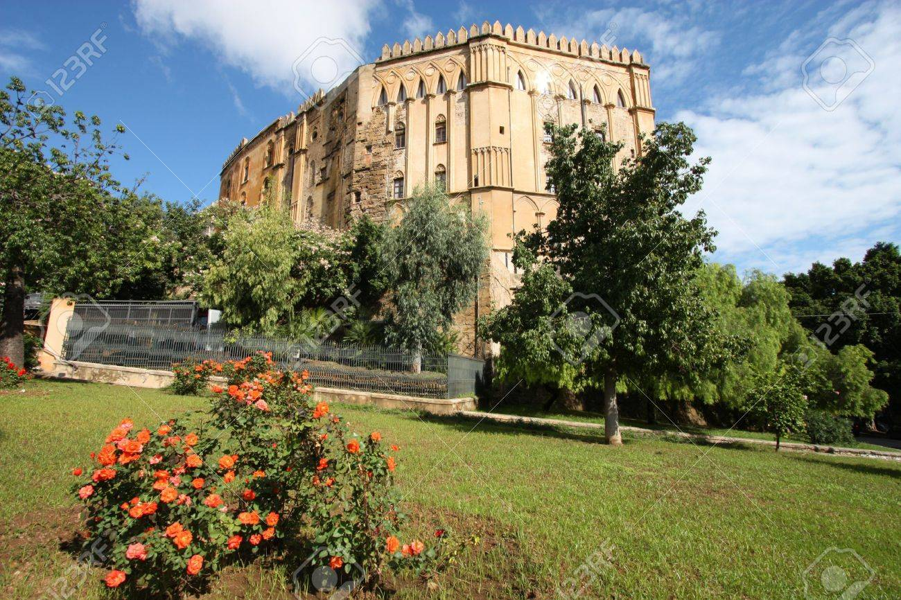 Palermo, Sicily island in Italy. Famous Palazzo dei Normanni, old royal seat in Arab-Norman-Byzantine style. Stock Photo - 6460750