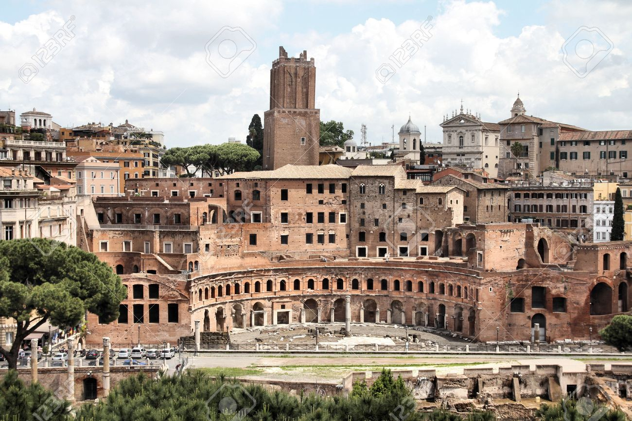 rome italy ancient roman ruins in foro traiano trajan u0027s forum