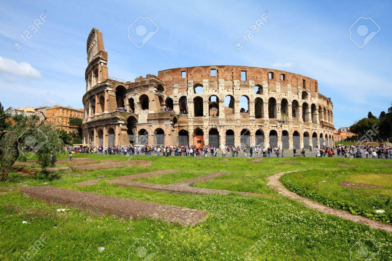 Rome, Italy. Famous Colosseum, Flavian Amphitheatre. Ancient landmark. Stock Photo - 7700427