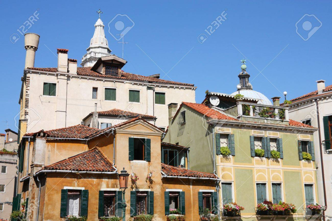 Venice Italy Architecture old architecture in venice, italy. vintage buildings. stock photo