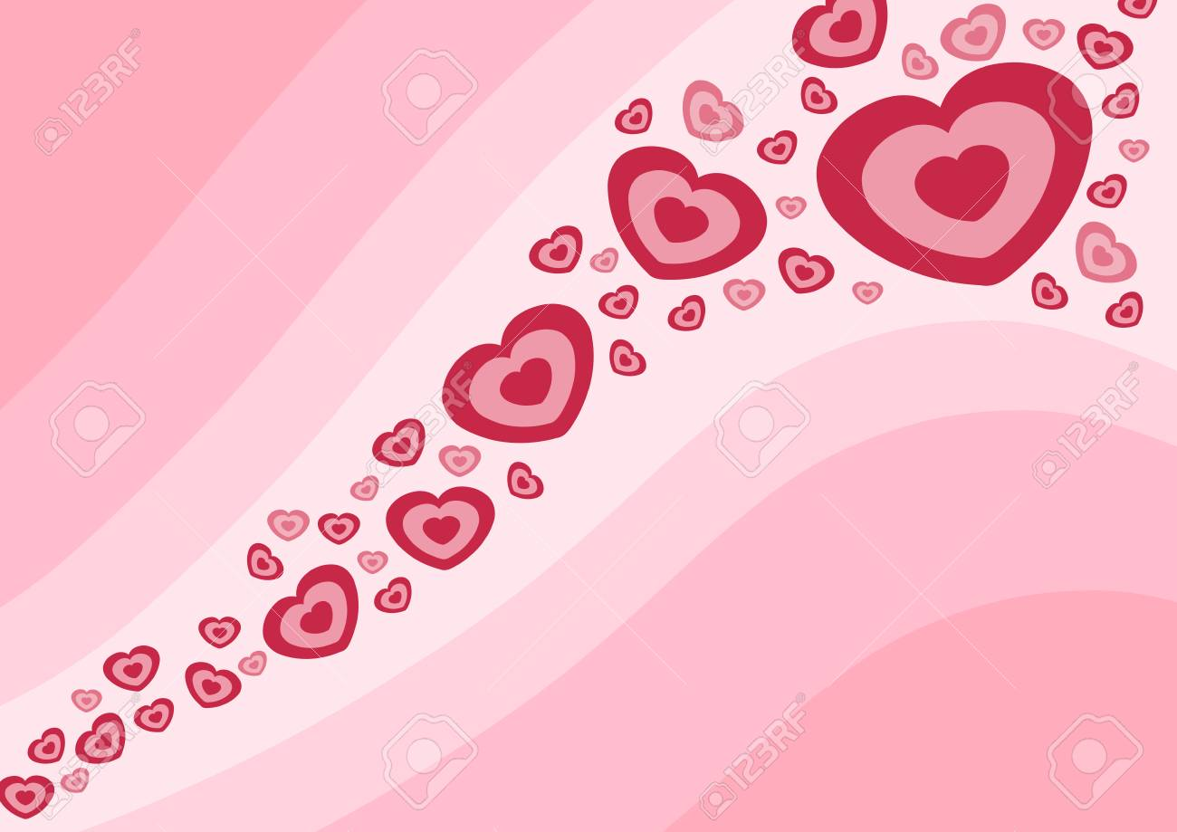 Love and romance. Hearts - Valentine's day illustration. Stock Vector - 8406208