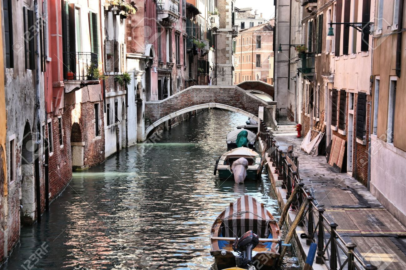 Venice Italy Architecture venice, italy - boats and old architecture with typical water