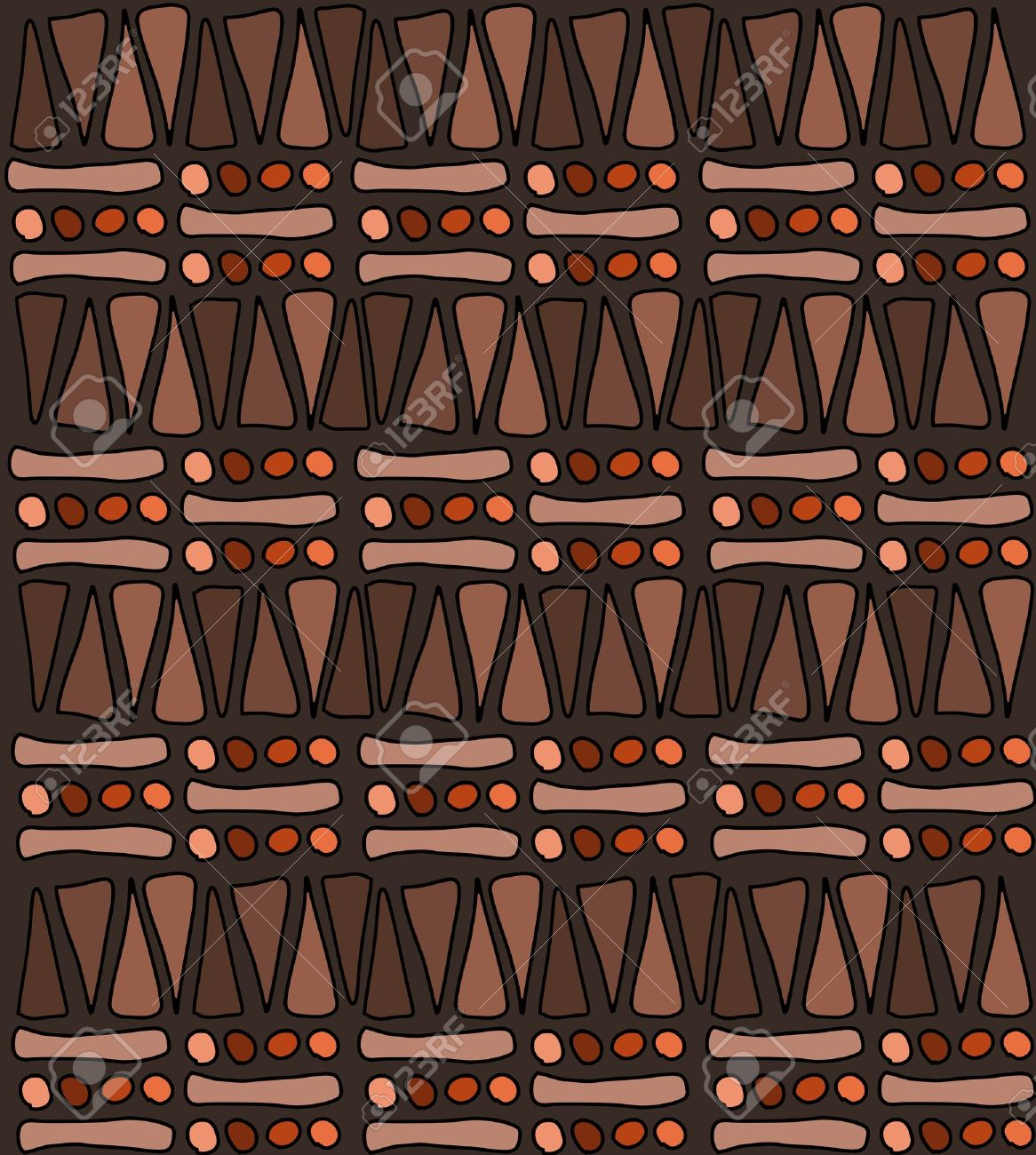 Tribal african pattern doodle Easy African Tribal Patterns