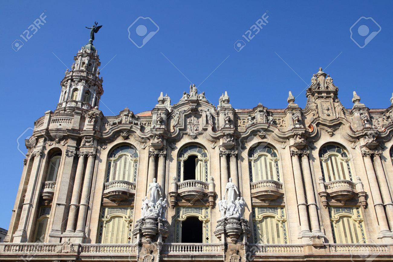 Havana Cuba City Architecture Famous Great Theatre Building   World Famous  Architecture Buildings