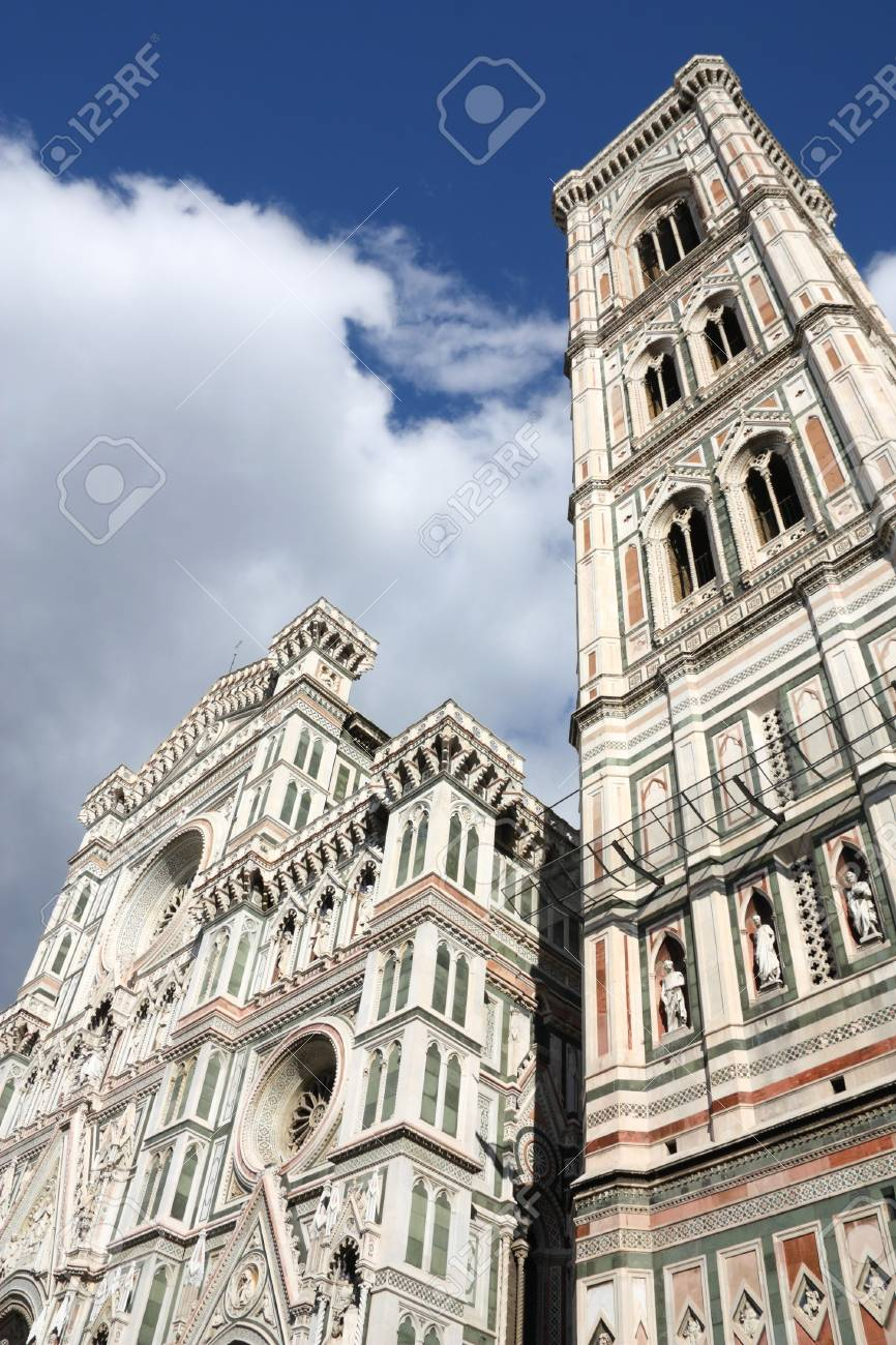 florence duomo cathedral with famous giotto s campanile