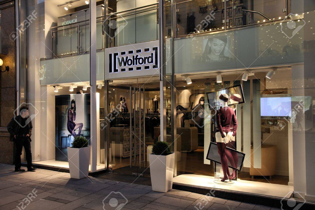 VIENNA - SEPTEMBER 6: Wolford boutique on September 6, 2011 in Vienna. The company founded in 1949 employs 1700 people (2011) and is one of most recognized lingerie and hosiery brands today. Stock Photo - 11867274