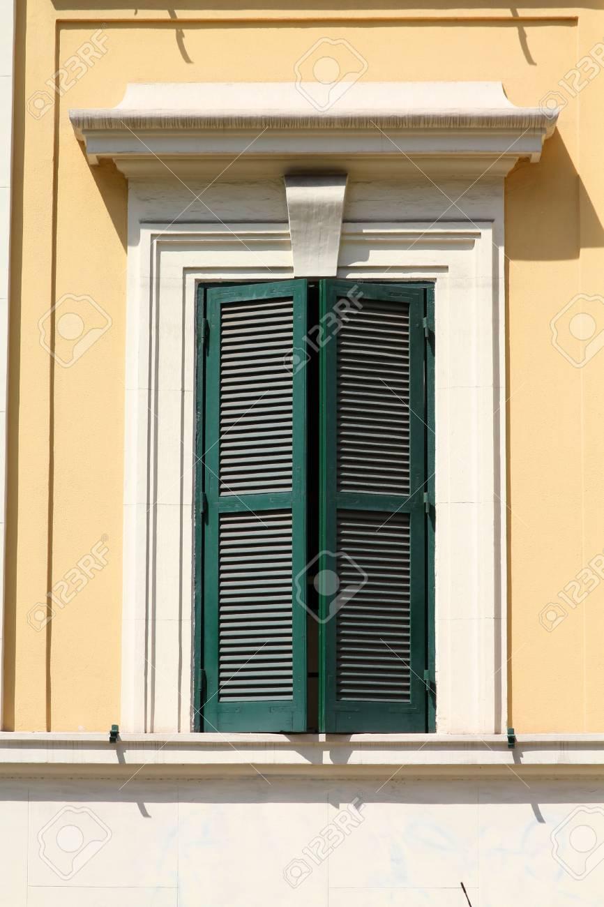 Rome, Italy. Old window, Italian architecture feature. Stock Photo - 12187894