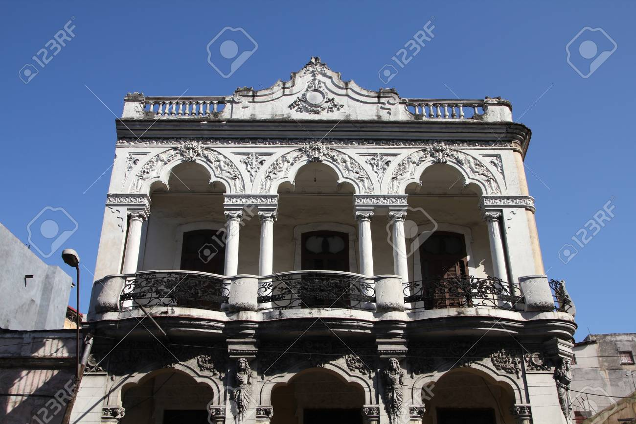 Havana, Cuba - city architecture. Old residential building. Stock Photo - 13047522