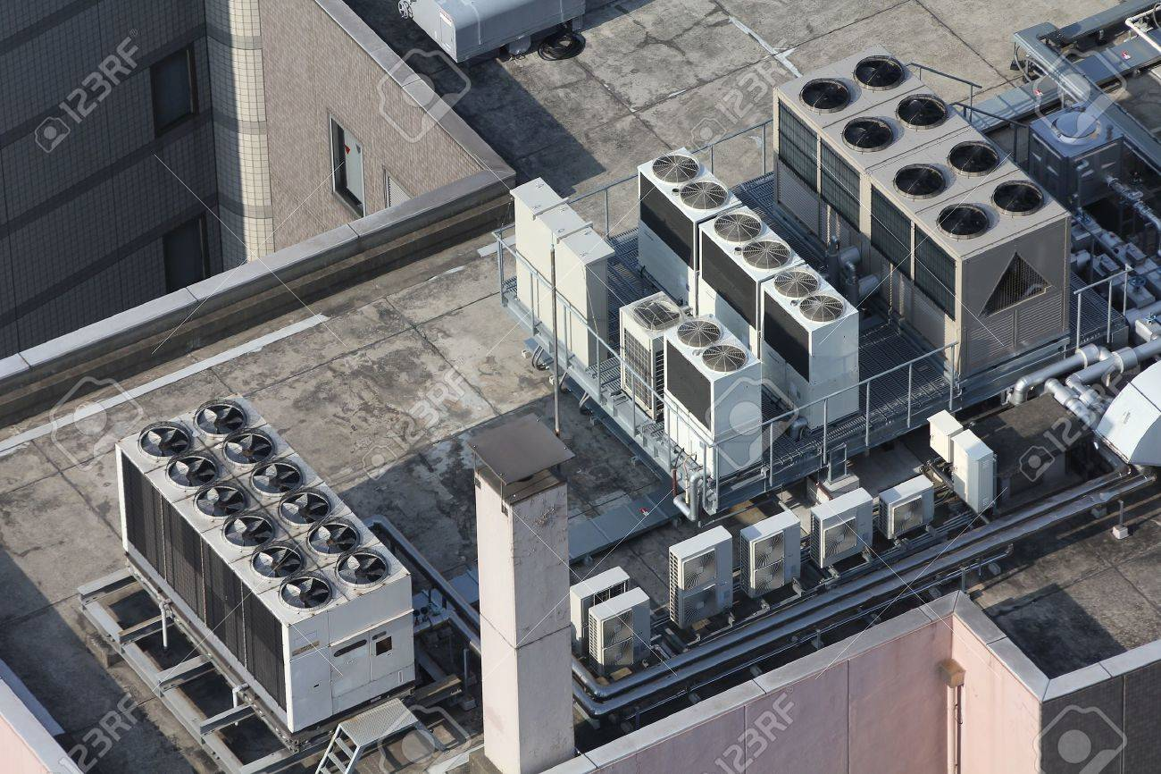 exhaust vents of industrial air conditioning and ventilation.. stock