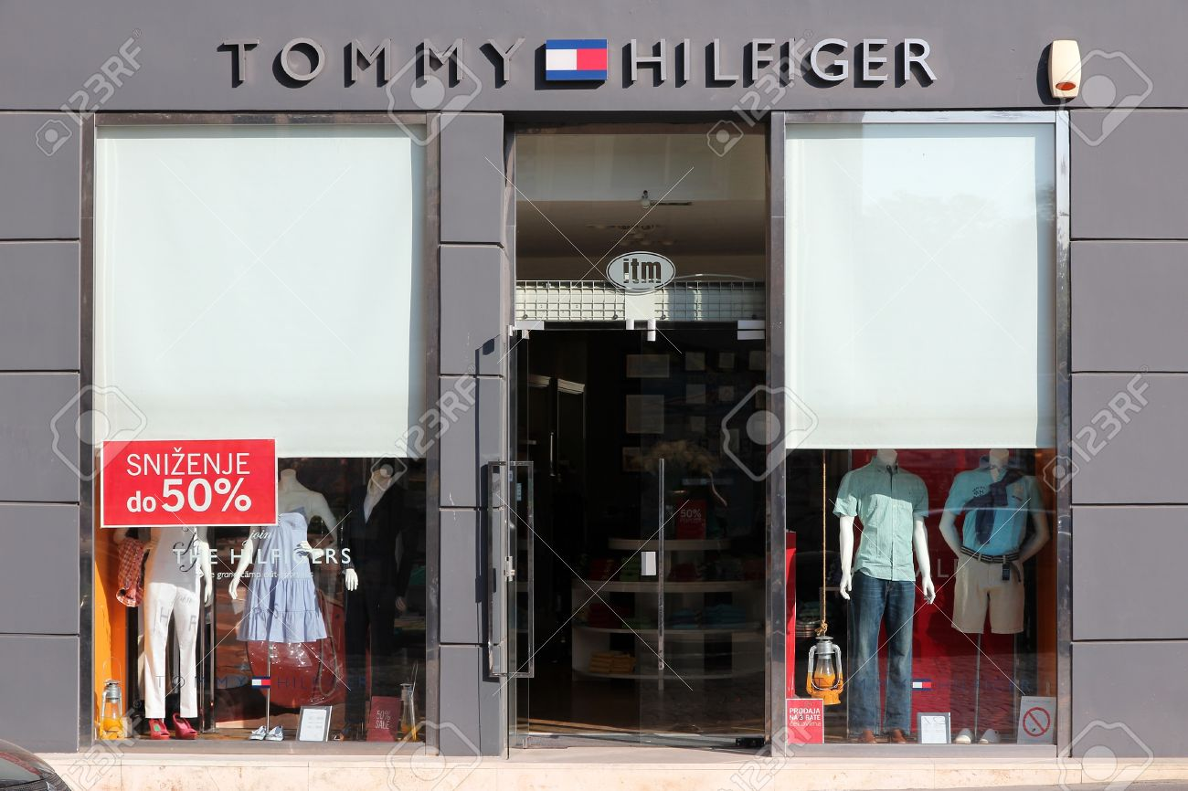 differently info for wholesale outlet BELGRADE, SERBIA - AUGUST 15: Tommy Hilfiger store on August..