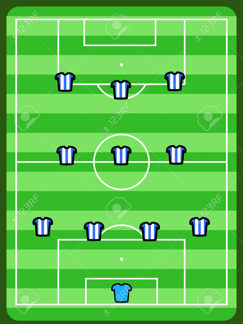 Soccer Field Illustration Football Tactics And Strategy
