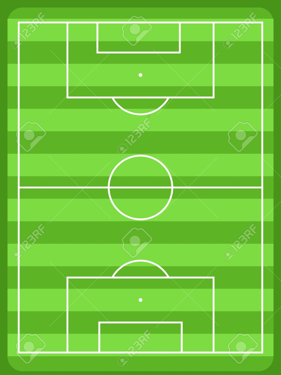 Football field diagram with white lines and green grass  Usable