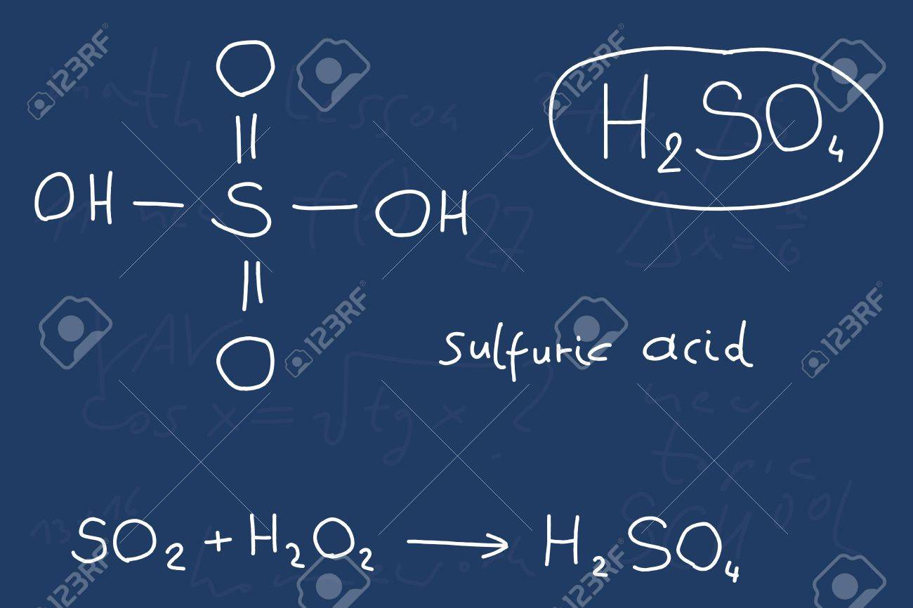 hand written scribble illustration inorganic chemistry lesson hand written scribble illustration inorganic chemistry lesson sulfuric acid inorganic mineral acid compound