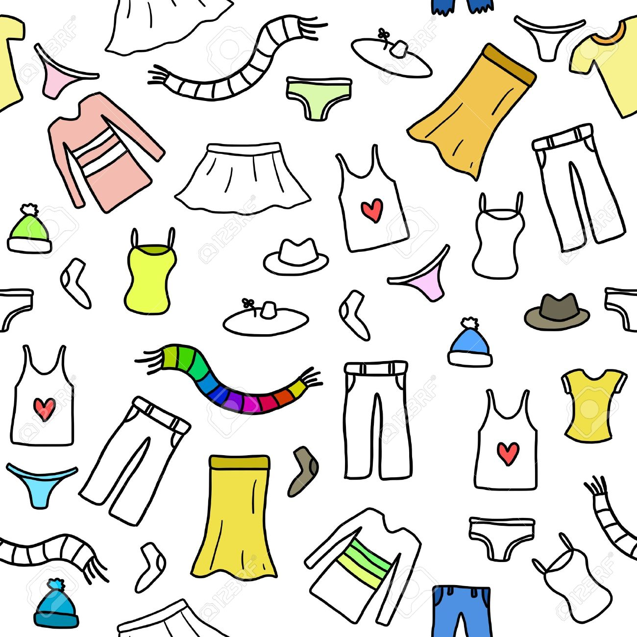 Seamless pattern fashion clothes and accessories icons and symbols seamless pattern fashion clothes and accessories icons and symbols fashion theme background doodle biocorpaavc Gallery