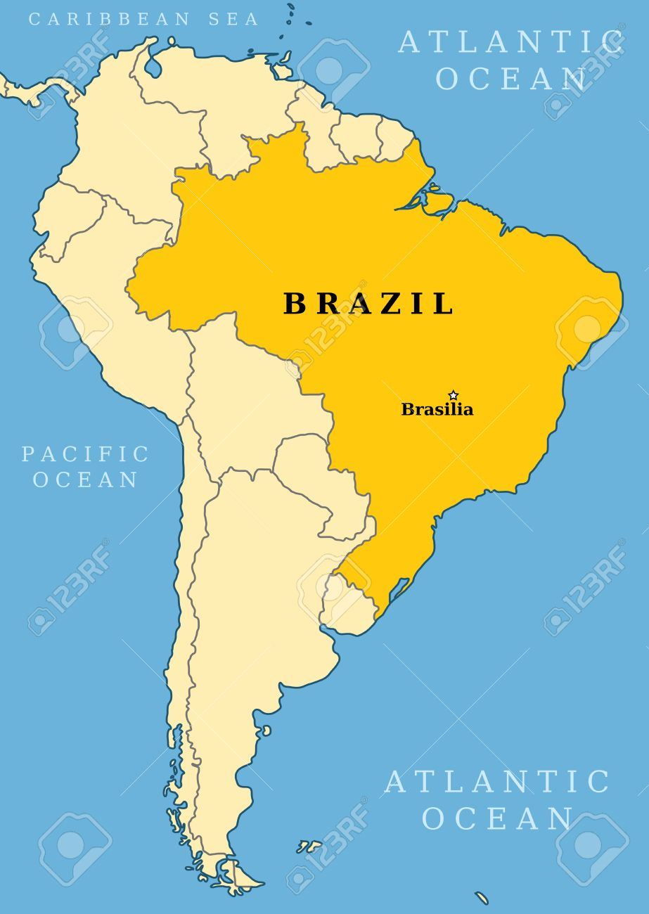 Brazil Locator Map Country And Capital City Brasilia Map Of - Brazil south america map