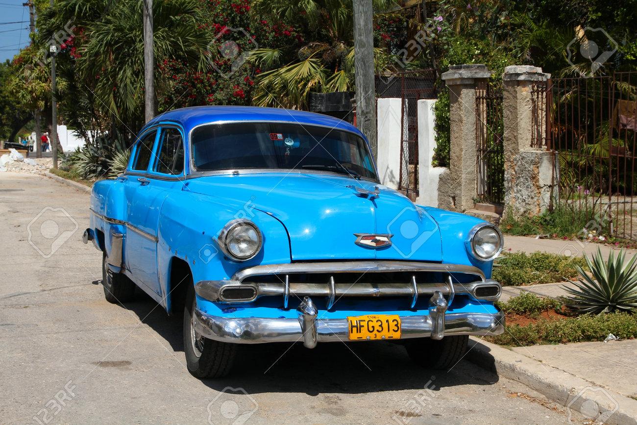 HAVANA - FEBRUARY 24: Classic American Chevrolet car on February