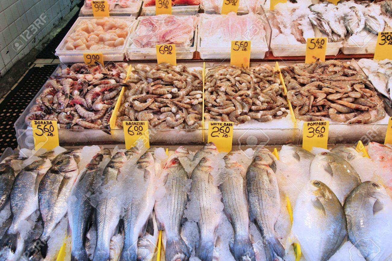 Fish Market In Chinatown Lower Manhattan New York Seafood Stock Photo Picture And Royalty Free Image Image 22820321