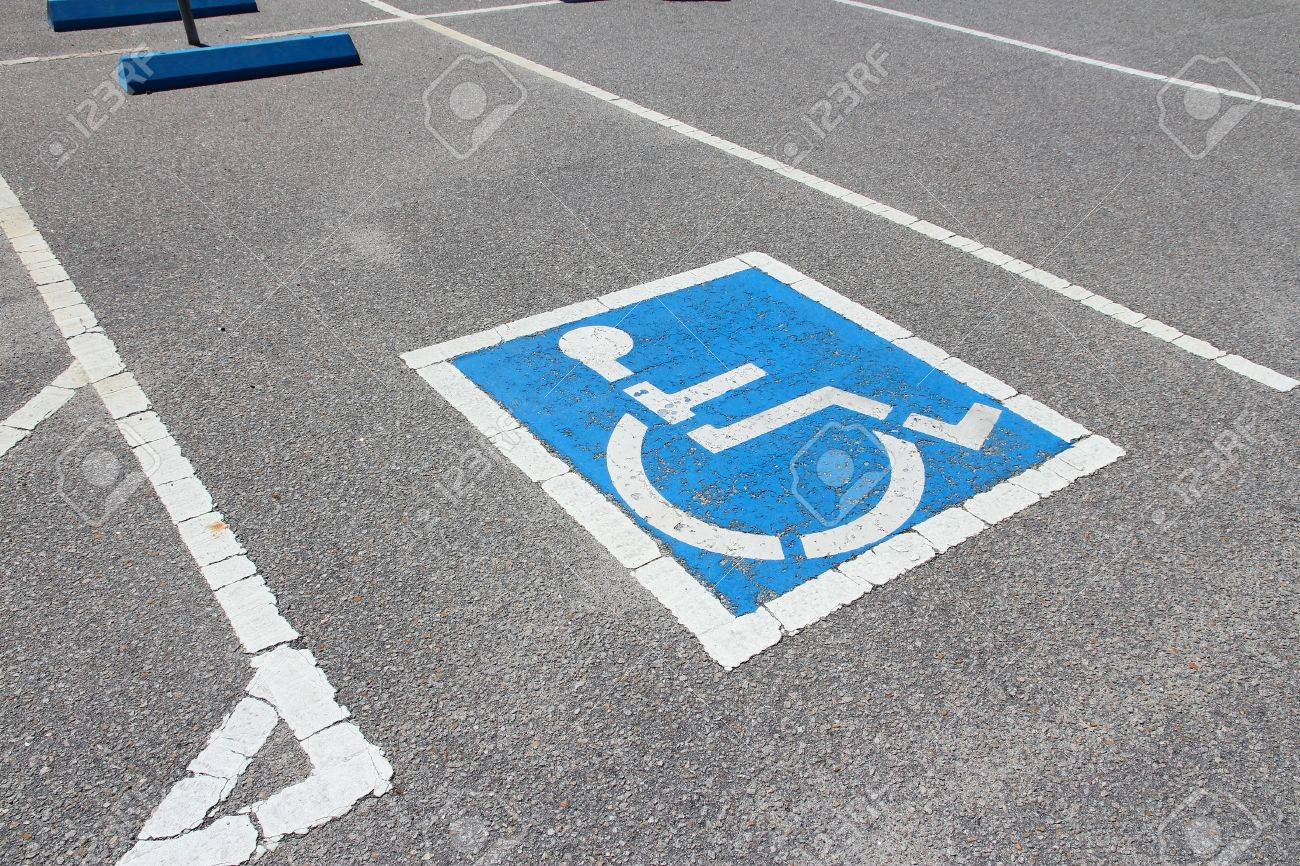 Handicapped Parking Spot - Transportation Infrastructure Road ...