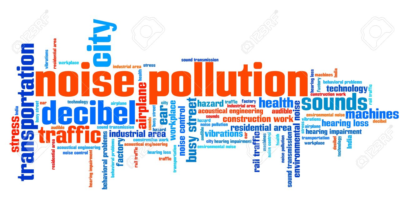 Noise Pollution - Urban Noise Issues And Concepts Word Cloud ...