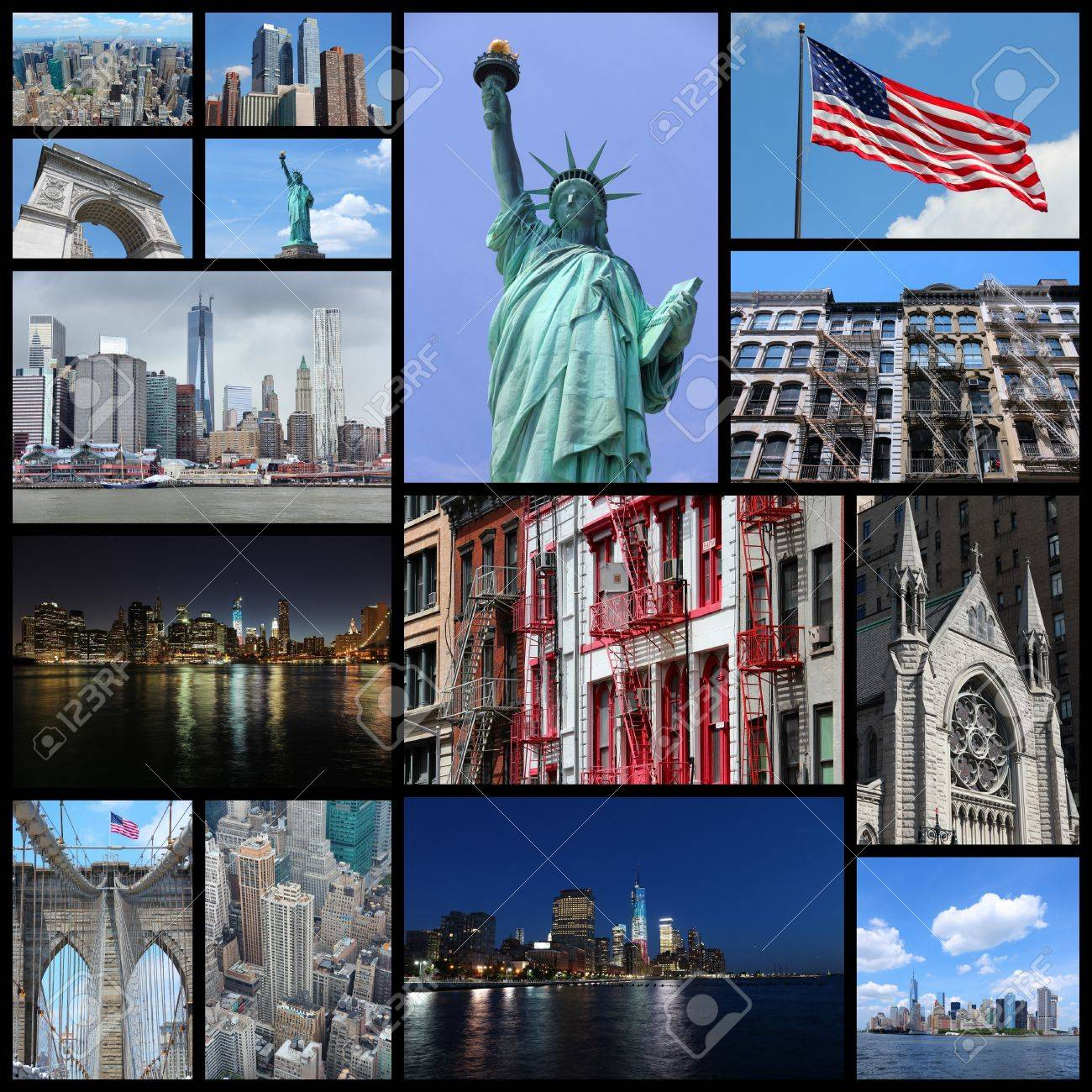 New York picture collage