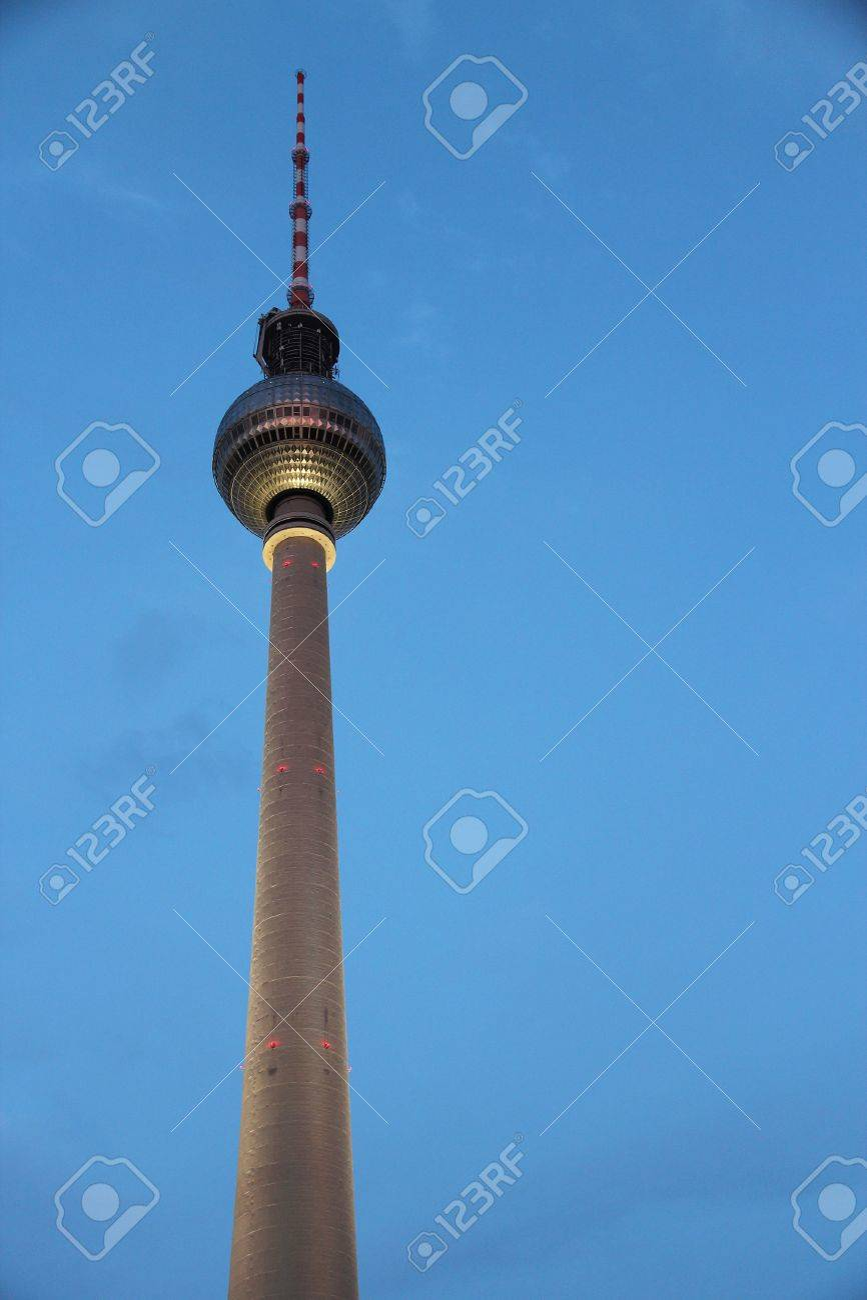 Berlin Deutschland Hauptstadt Architektur Beruhmte Fernsehturm