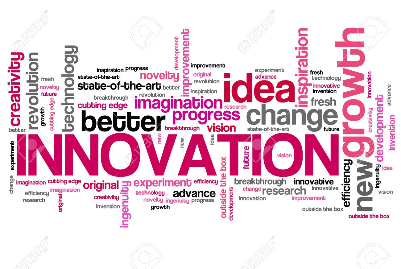 Innovation - modern technology issues and concepts word cloud illustration. Word collage concept. - 34031499