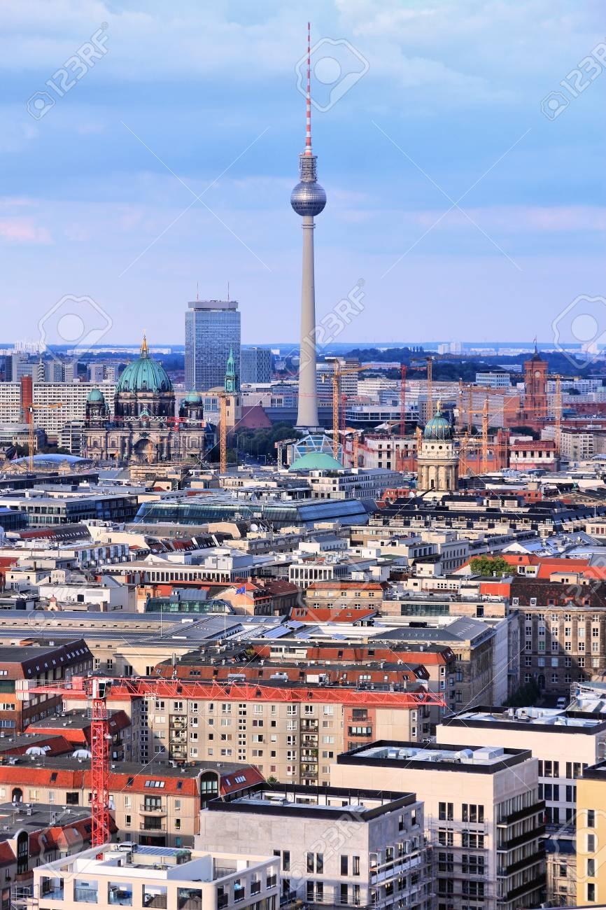 Berlin Deutschland Hauptstadt Architektur Luftaufnahme Mit