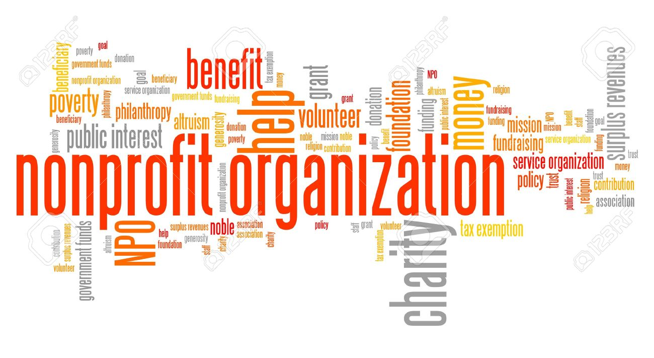 Nonprofit organizations issues and concepts word cloud illustration. Word collage concept. - 38404590