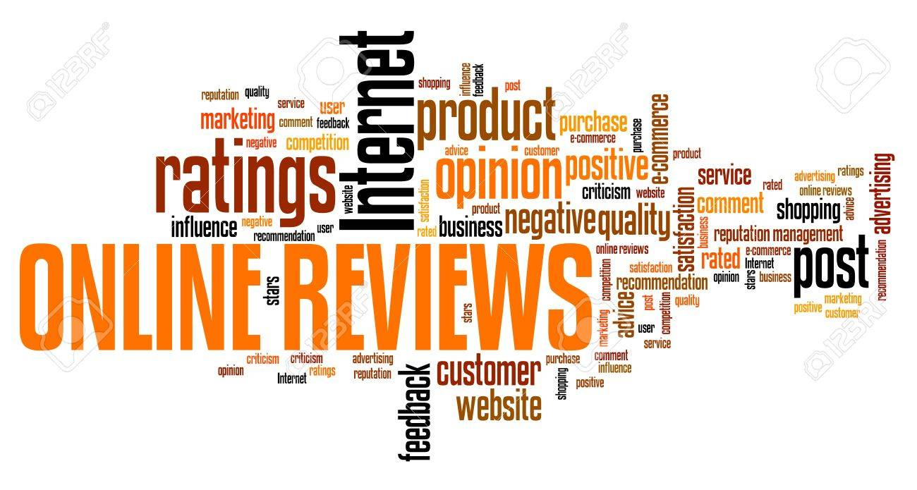 Online reviews - internet concepts word cloud illustration. Word collage. - 39755307