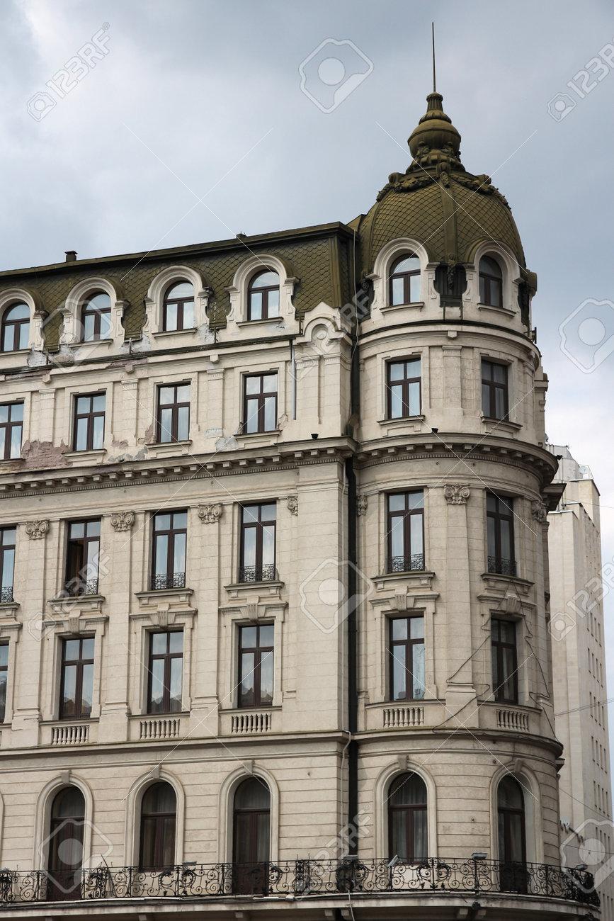 Apartment Building In Bucharest, Romania. European Architecture ...
